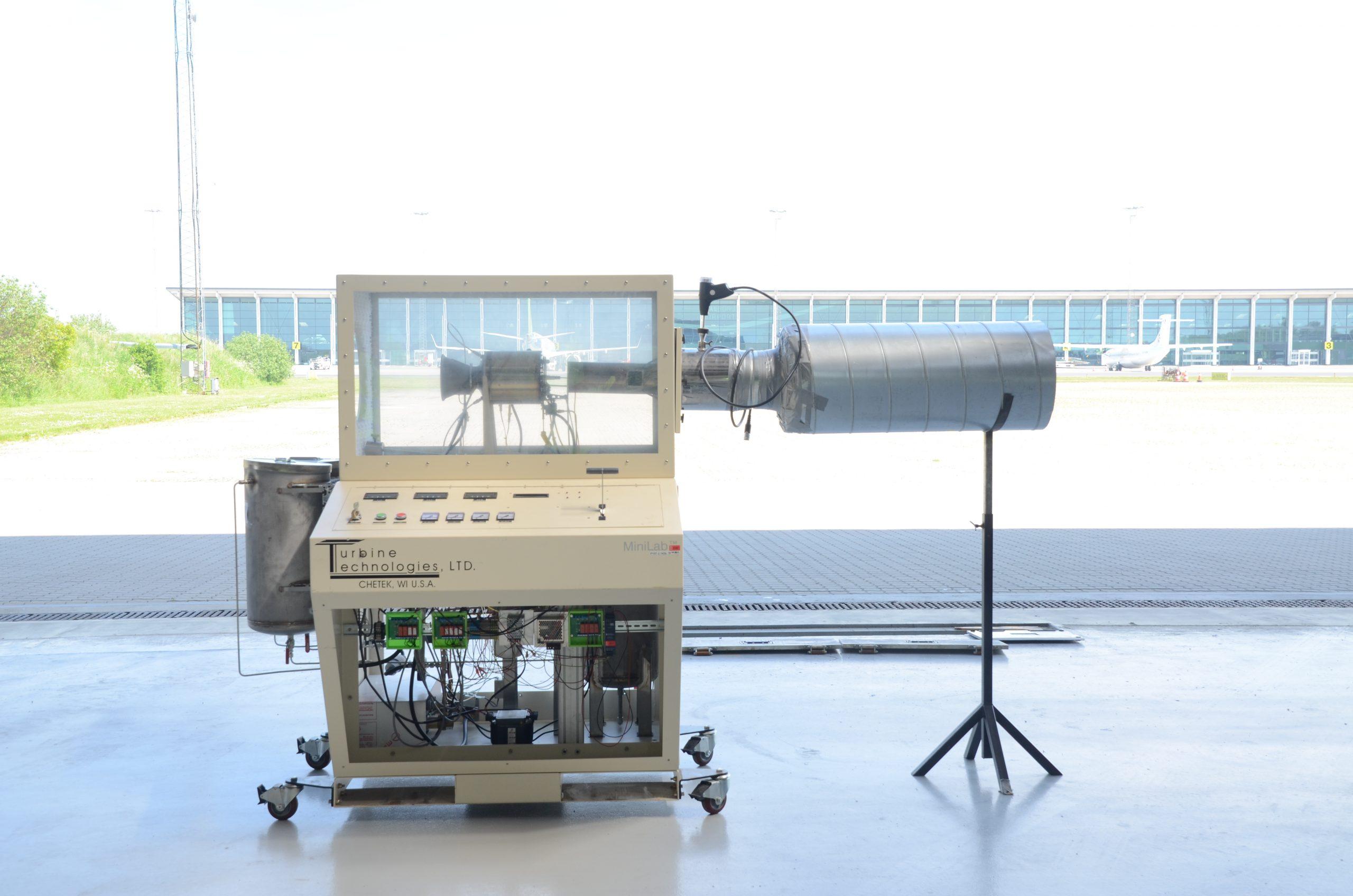 Lab-scale turbine to test the produced sustainable aviation fuels. Photo: Muhammad Salman Haider. Copyright: Aalborg