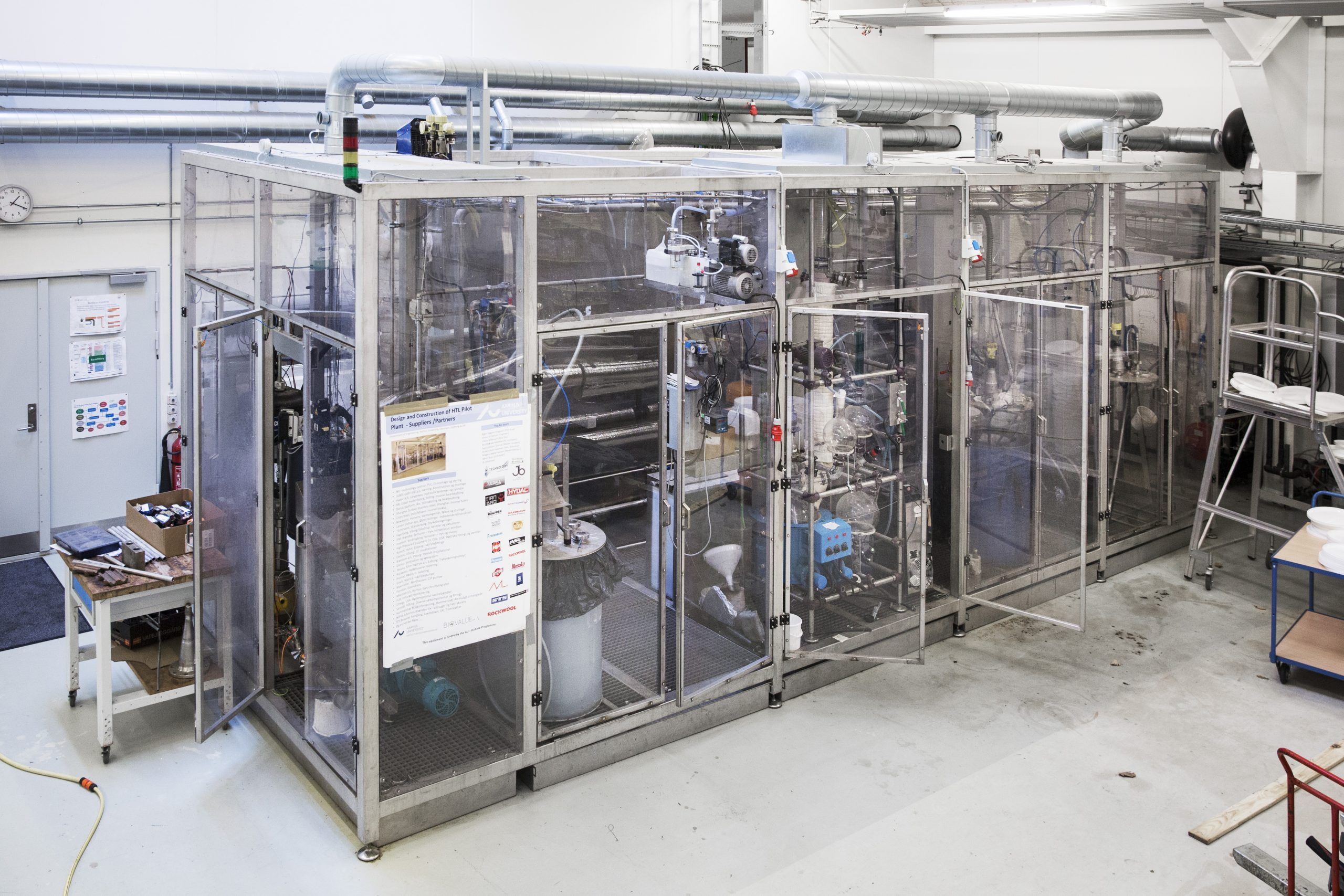 Pilot plant for continuous HTL conversion of various organic feedstock. Copyright: Aarhus University